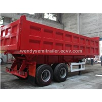 Front Tipping Semi Trailer Truck for dumping sand rock, mineral power