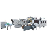 Full Automatic Square Bottom Handle Paper Bag Making Machine with Seven Servo Motors System