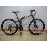 Full suspension folding mountain bike foldable MTB bicycle