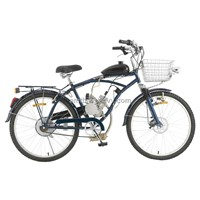 Gasoline Beach Cruiser Bike Gasoline Engine Boosting Beach Bicycle