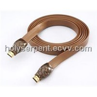 Gold snake-like HDMI cable assemblies
