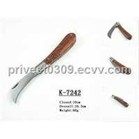 K-7242 high quality wooden handle pocket knife