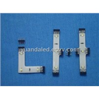 LED strip connector for LED light bars