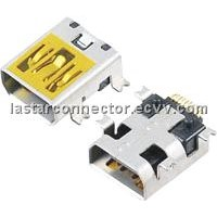 Mini USB 10pin SMT Connector