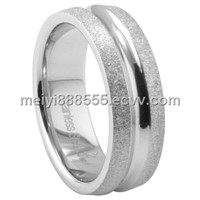 NEW 316L Stainless Steel Wedding Band - Diamond Cut