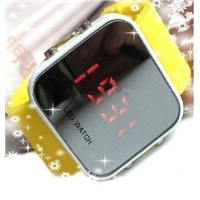 New Arrival watch led,mirror led watch,Colorful