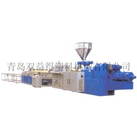 PVC wave plate and trapezia-shaped plate production line