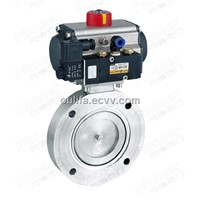 Pneumatic High Vacuum Butterfly Valve