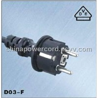 Power Cables Europe Connectors Germany VDE Plug Power Cord