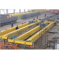 QD double girder motor EOT crane with hook