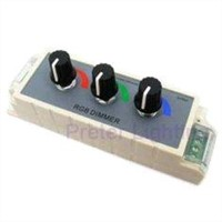 RGB LED dimmer controller with 3 switchs