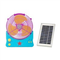 Rechargeable Solar Desk Fan with Light, Solar Panel, Low Noise and 4 to 5 Hours Working Time
