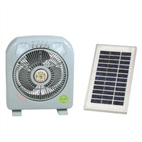 Solar Oscillating Rechargeable Table Fan with LED Lights and Energy-saving Motor