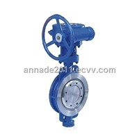 Three-eccentric Multi-level Metal Sealing Flange Butterfly Valve