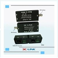 Transmitter and Receiver 1080P HD-SDI over Fiber with RS485