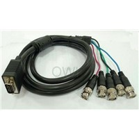 VGA DB15 to 5xBNC Security Camera Cable