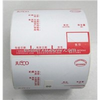 Weighing scale label