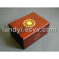 Wooden box  Bronzing Logo