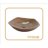 Yellow Onyx Marble Vessel Sink