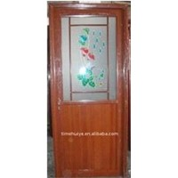 aluminum door with half aluminum panel and 35-40mm door leaf thickness