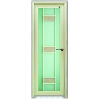 aluminum interior door with stainless steel hinge available in various designs