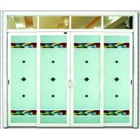 aluminum sliding door with double-sided glass with 5mm thickness