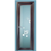 aluminum swing door available in various colors together with hinges and locks