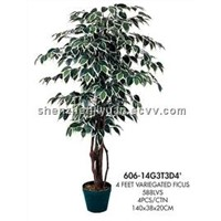 Artificial tree ficus tree 606-14G3T3D4'