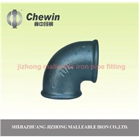 black cast iron gas duct pipe fitting elbow