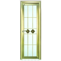 brushed champagne interior door with double-sided glass made of aluminum alloy