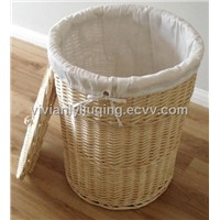 buff wicker laundry hamper