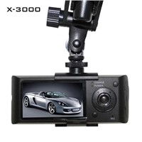 car black boxes X3000 Dual camera with GPS