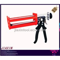 double cartridges caulking gun aluminum handle &trigger,two part adhesive caulking gun