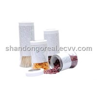 glass canister with thermal transfer technology