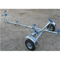 hot dipped galvanized foldable boat trailer with coilded spring suspension system