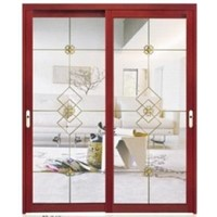 interior hanging sliding aluminum door with double-sided glass available in various designs