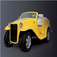 new yellow electric classic car