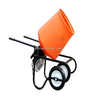 portable concrete mixer with 3.5cuft poly drum