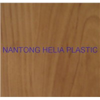 pvc & non-pvc sheet with wooden grain for decoration