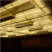 translucent alabaster  for lighting decoration on the ceiling