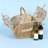 wicker picnic baskets for 2 person