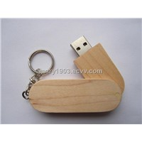 wooden and swivel usb flash drive