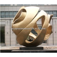 bronze sphere for outdoor deco(1)