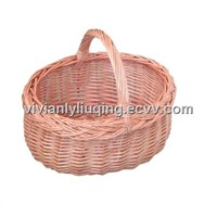 wicker basket for shopping