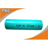 1.2V NI-MH AA 1500mAh  Rechargeable Battery with Long Cycle Life