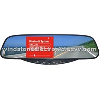 "3.5"" TFT monitor Bluetooth Rearview car kit"