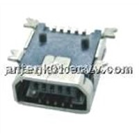 Mini USB 5F AB Type SMT Connector