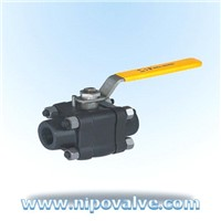 3PCS Forged steel ball valves