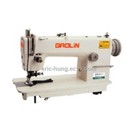 High speed lockstitch sewing machine with side cutter