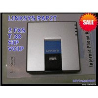 LINKSYS PAP2T-NA SIP VOIP Phone Adapter 2 Port UNLOCKED